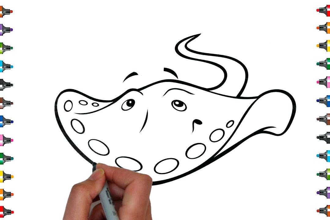 1080x720 Free Printable Starfish Coloring Pages Sting Ray Excellent