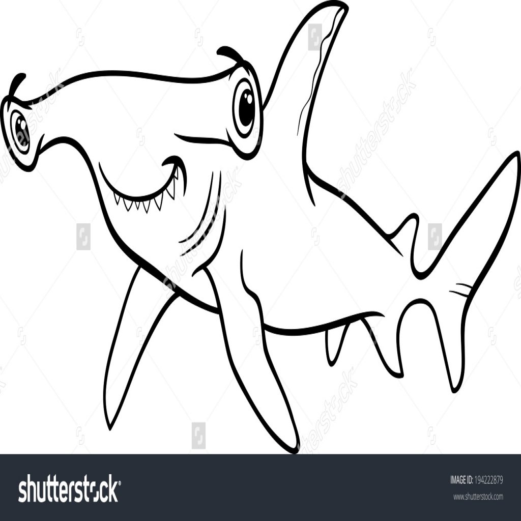 1024x1024 Shark Coloring Pages Free Printable For Kids Awesome Coloring