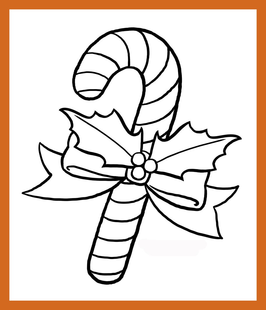 913x1064 Best Printable Candy Cane Coloring Pages For Kids Picture