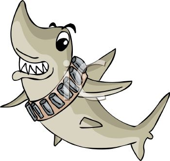 350x331 Picture Of A Shark Swimming With His Teeth Showing In A Vector