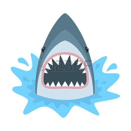 450x450 Shark Mouth Open Clip Art. Shark Clipart