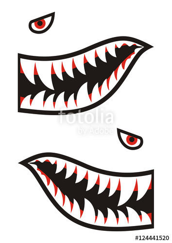 354x500 Shark Teeth Decals Stock Image And Royalty Free Vector Files