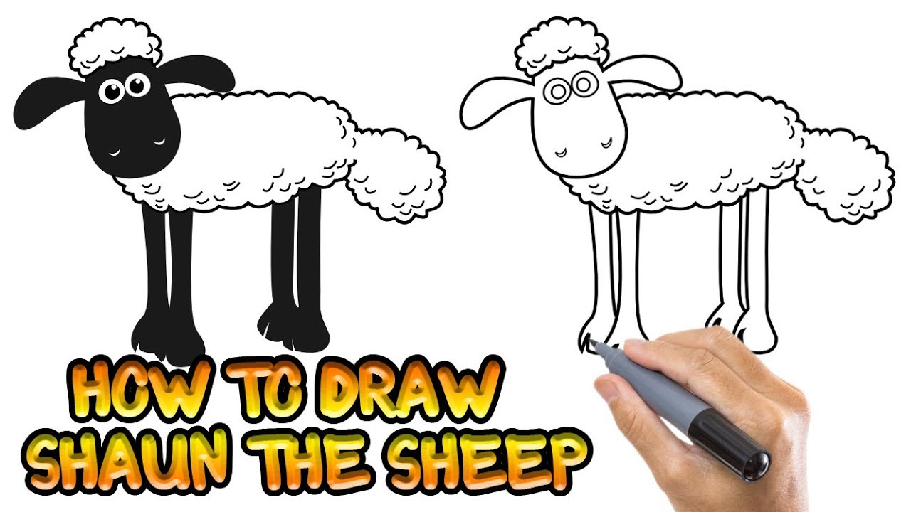 1280x720 How To Draw Shaun The Sheep L Coloring Pages For Kids