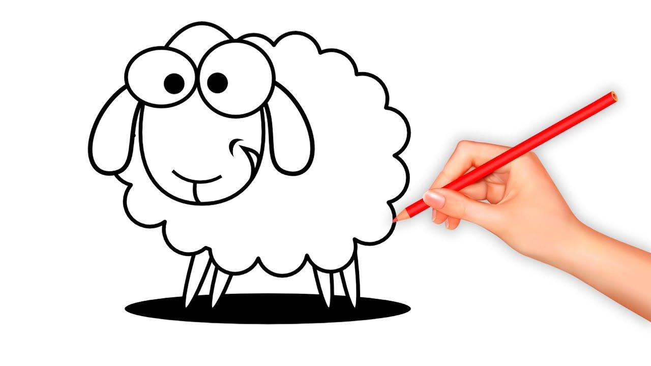 1280x720 Sheep Cartoon Drawing Cartoon Sheep Royalty Free Cliparts, Vectors