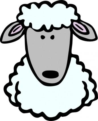 345x425 Sheep Head Clip Art Vector Clip Art Free Vector Free Download
