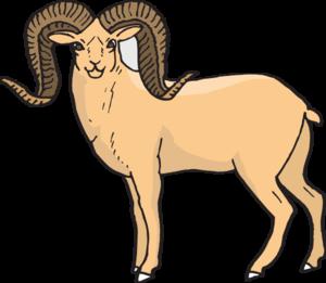 300x261 Sheep Clipart Ram
