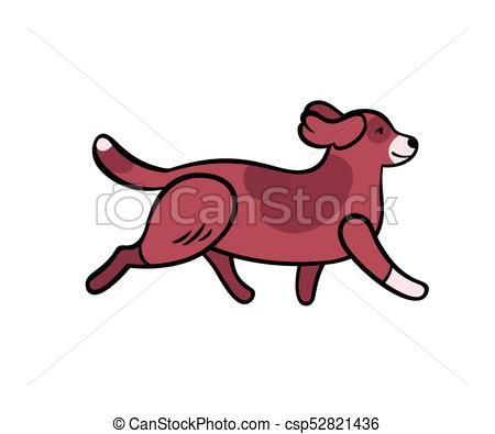 450x395 Vector Colorful Running Dog. Vector Colorful Running Dog