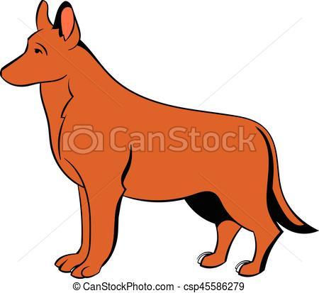 450x413 German Shepherd Dog Icon Cartoon. German Shepherd Dog Icon
