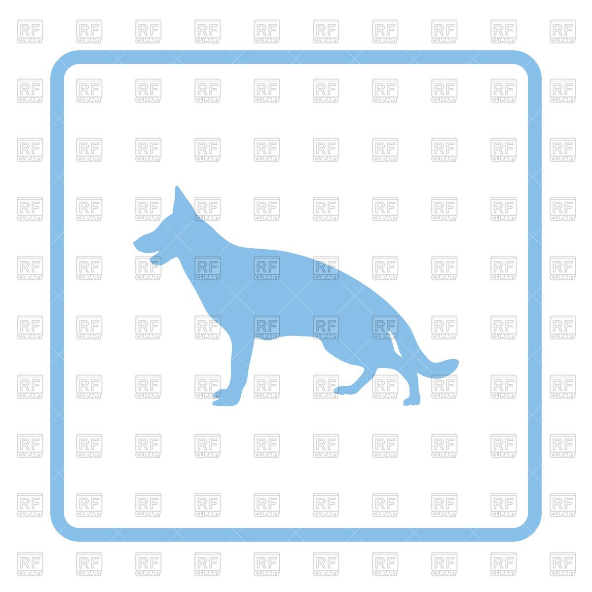 1200x1200 German Shepherd Icon Royalty Free Vector Clip Art Image