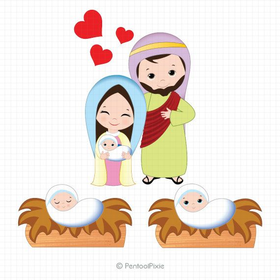 570x570 Nativity Clipart, Nativity Clip Art, Christmas Clipart, Jesus