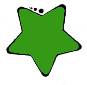 350x342 Clipart Green Star Rounded Clip Art Image
