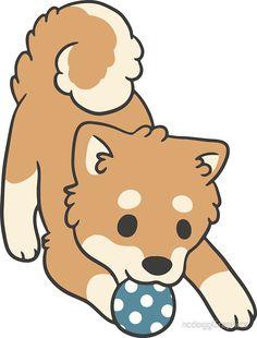 236x310 Chibi Shiba Inu' Sticker By Ncdogggraphics Shiba, Chibi And Dog