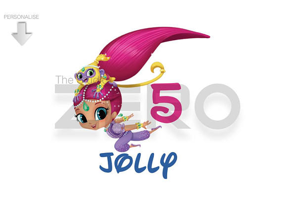 570x428 Shimmer And Shine Bday Clipart Personalize Printable Iron