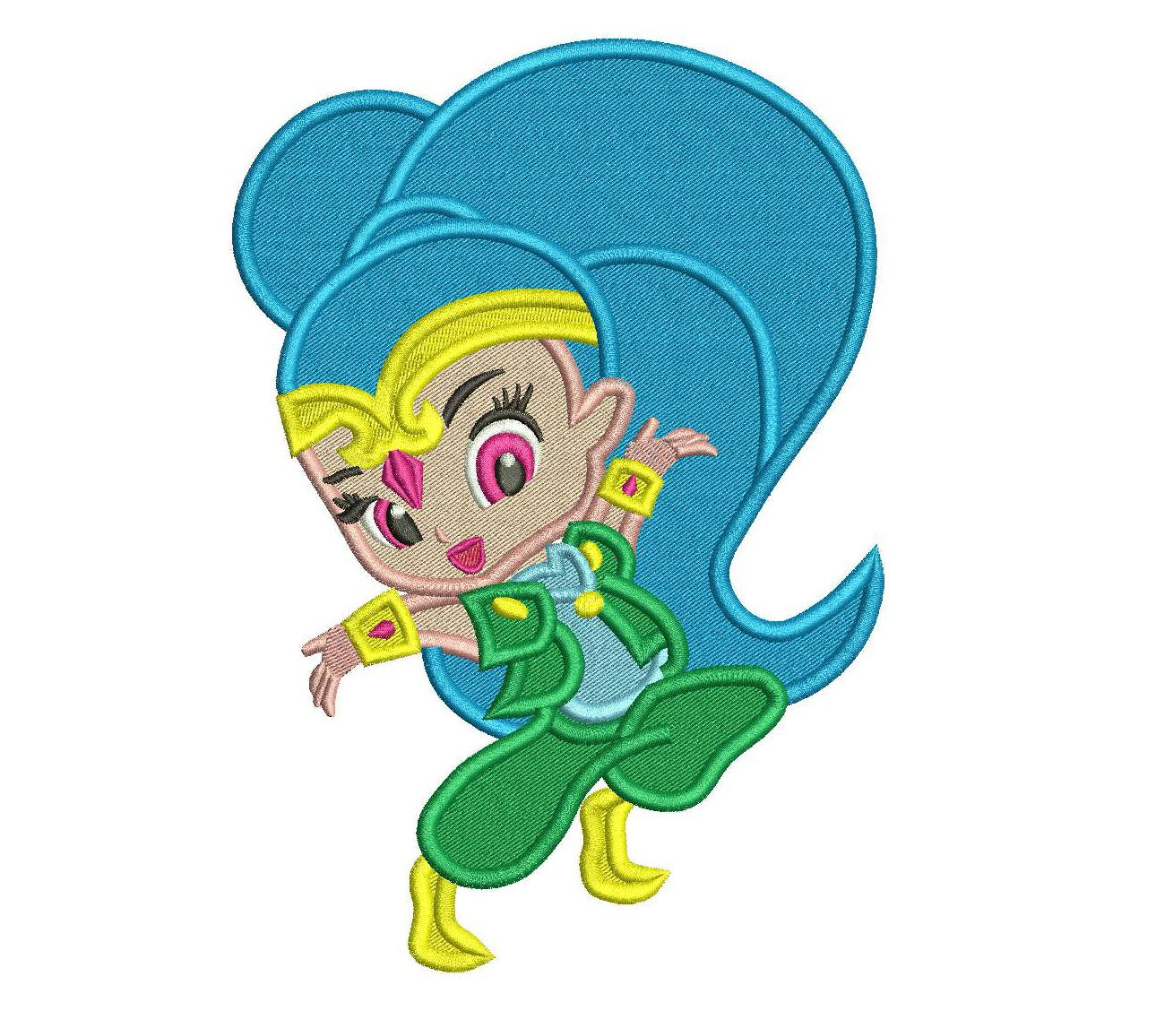 1290x1128 Shimmer From Shimmer And Shine Machine Embroidery Design