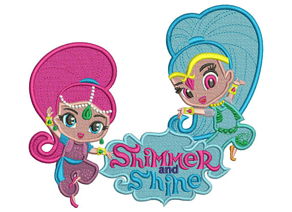 570x415 Shimmer And Shine Stitch Embroidery Design 3 Sizes Instant