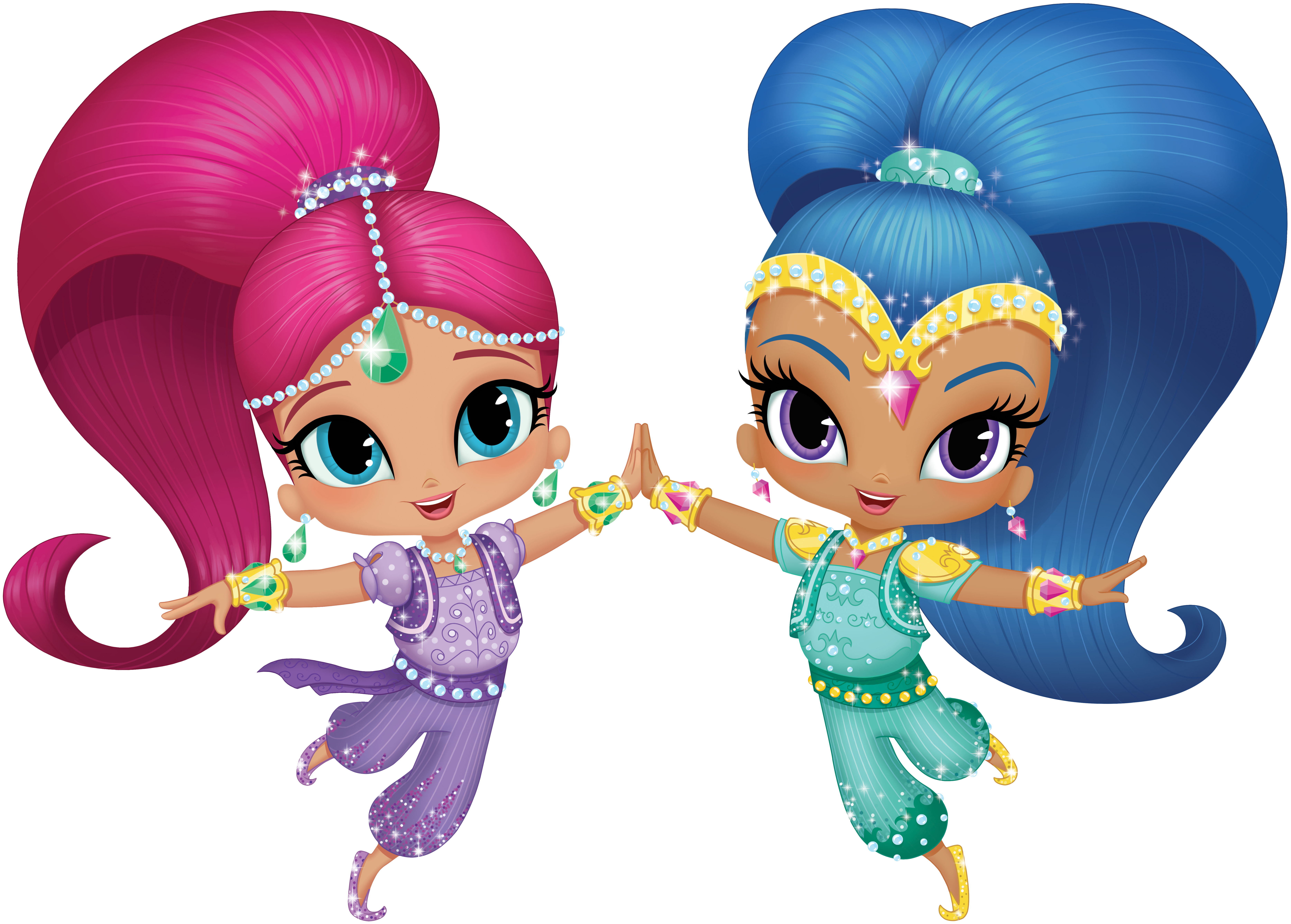 7466x5344 Shimmer And Shine Transparent Png Clip Art Imageu200b Gallery