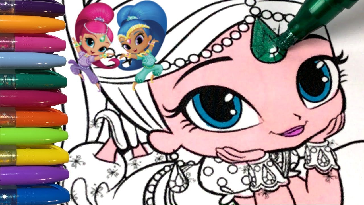 1280x720 How To Color Shimmer And Shine!!! Princess Action!!