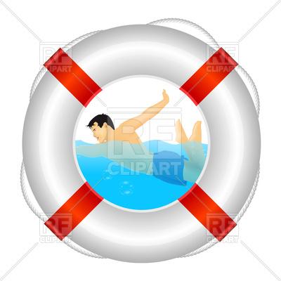 400x400 Lifeguard Icon Royalty Free Vector Clip Art Image