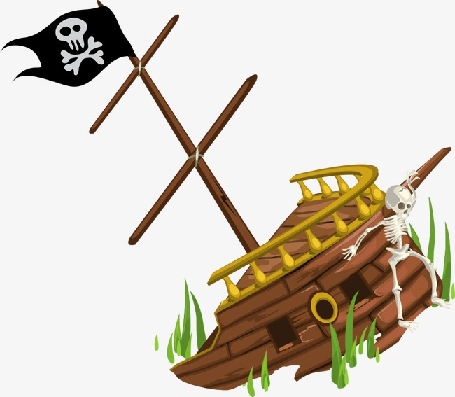 650x567 Vector Pirate Shipwreck, Wreck, Cartoon Ship, Vector Ship Png