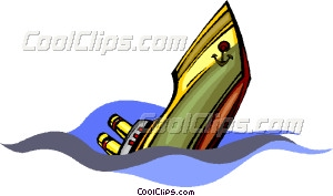 300x177 Sinking Ship Vector Clip Art