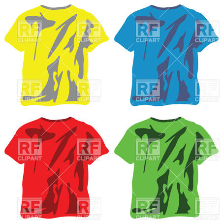 453x453 Symbolic Wrinkled T Shirts Royalty Free Vector Clip Art Image
