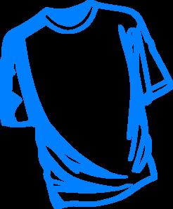 246x297 T Shirt Blue Clip Art