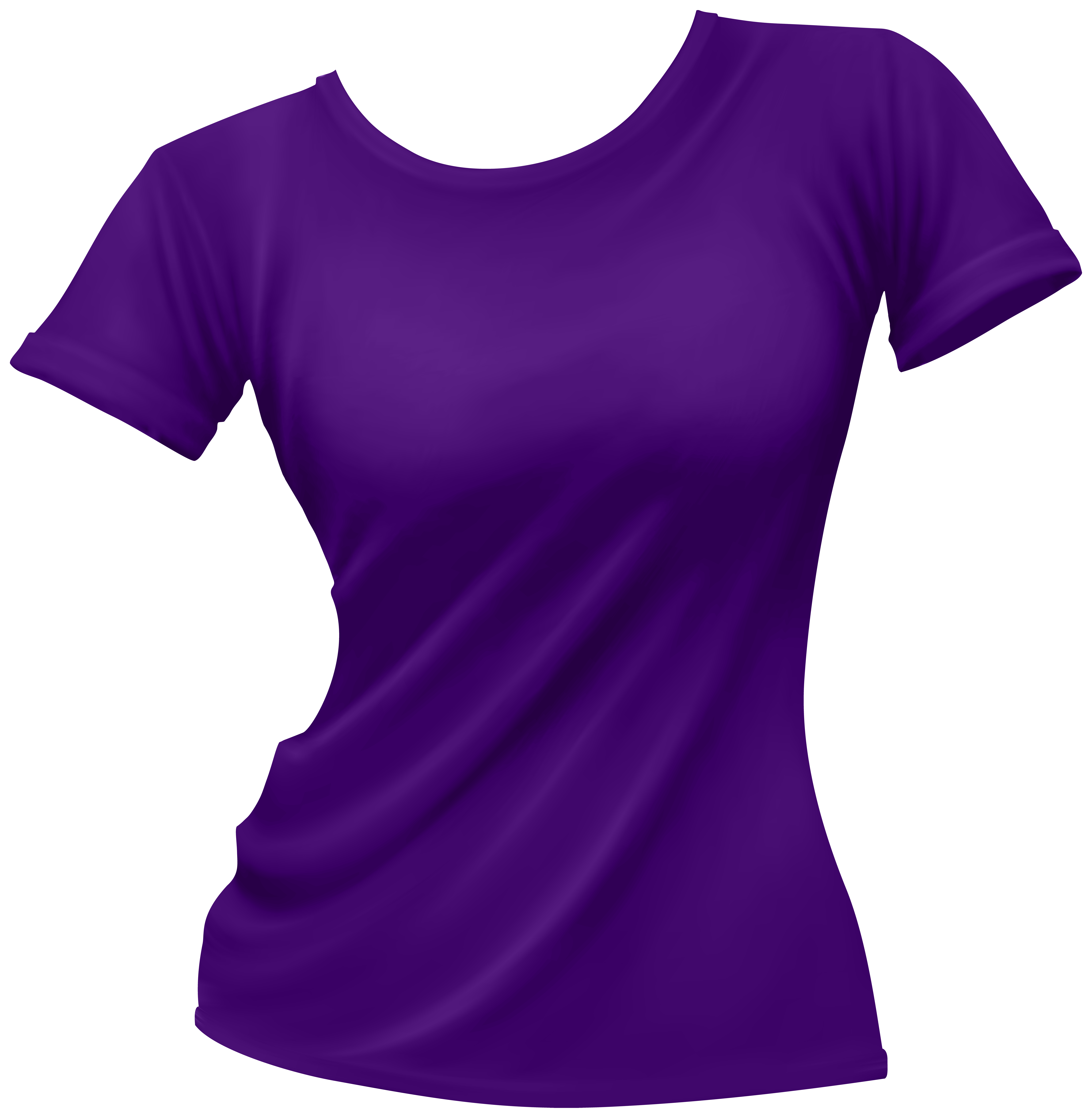 6839x7000 Female T Shirt Purple Png Clip Art