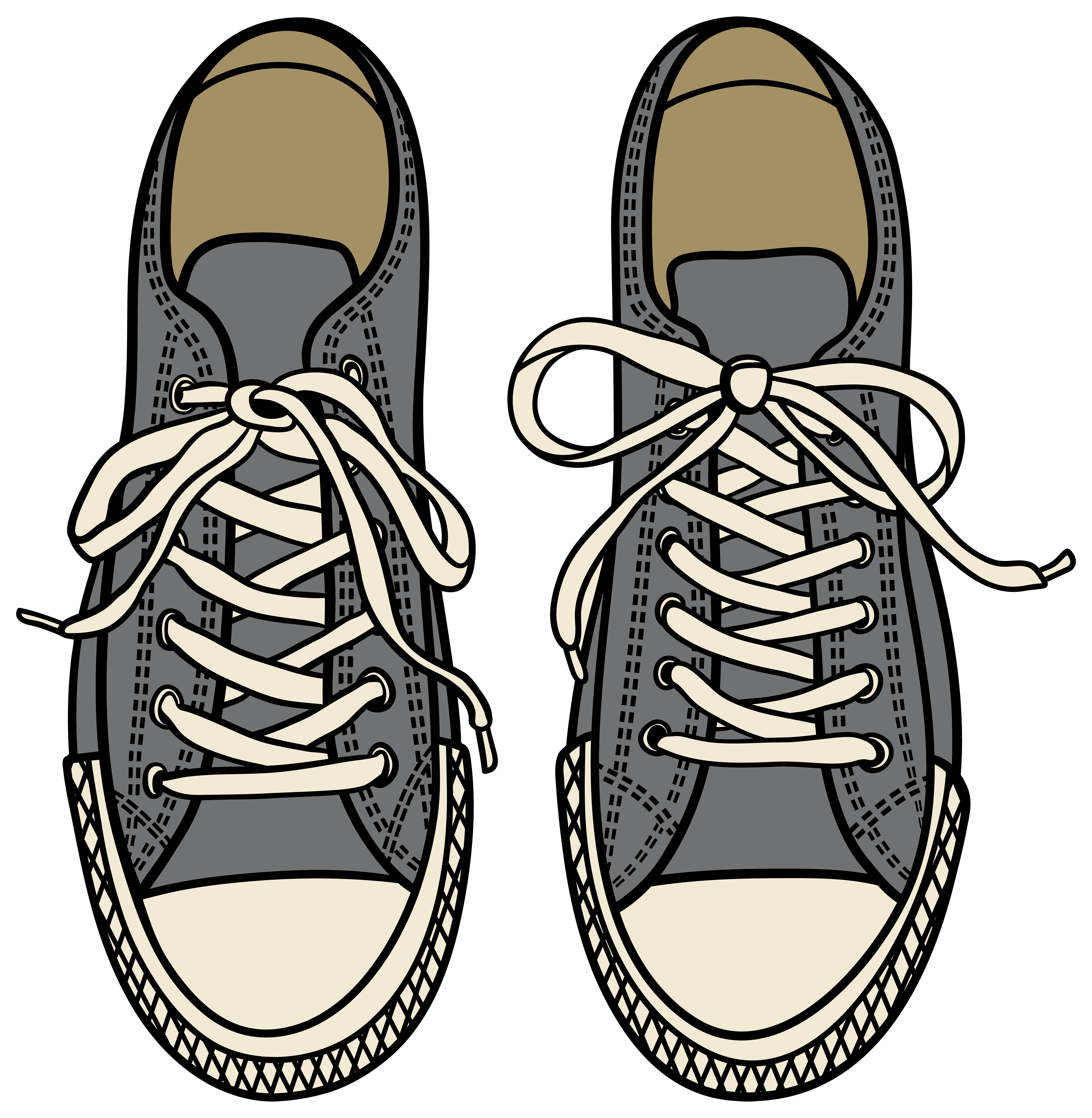 4000x4096 Grey Sneakers Png Clipart