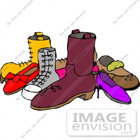 450x450 Group Of Shoes Clipart