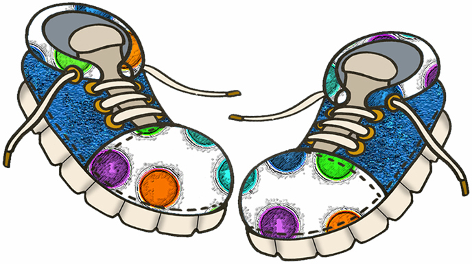 688x385 Funny Shoe Clipart