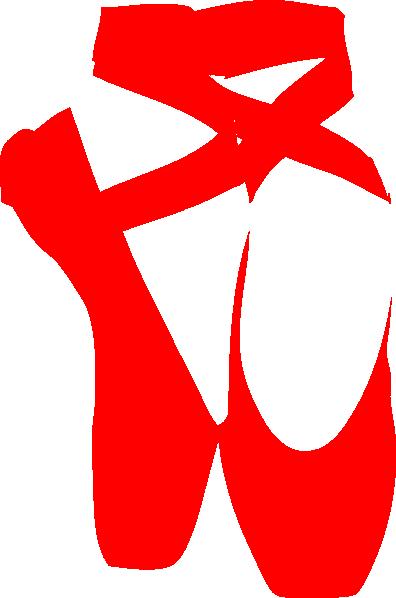 396x598 Red Ballet Shoe Clip Art