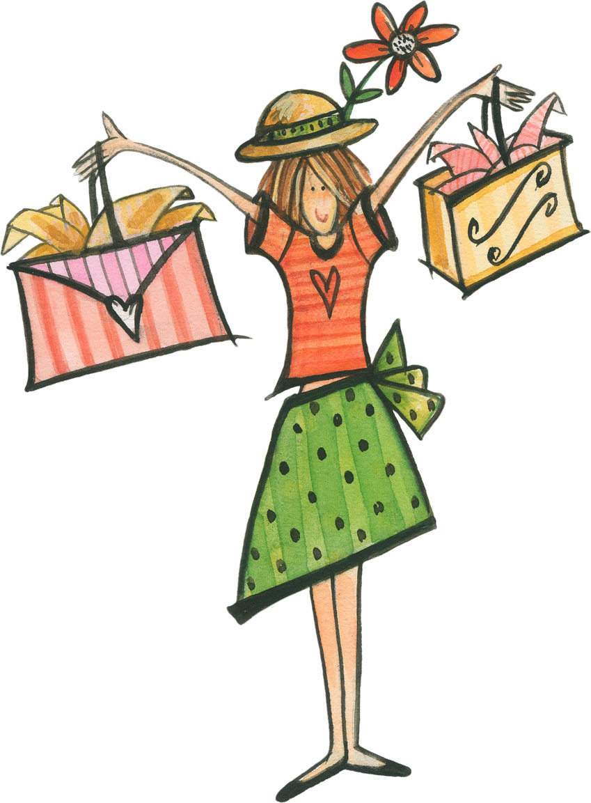 849x1153 Shopping Clipart