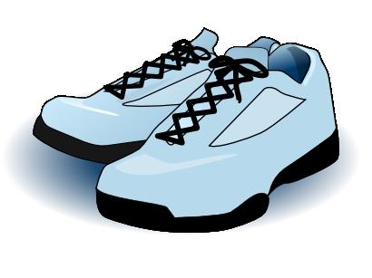 410x307 Clipart Sneakers Free Blue Tennis Shoes Clip Art Clip Art