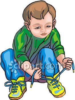263x350 Child Tying Shoes Clip Art