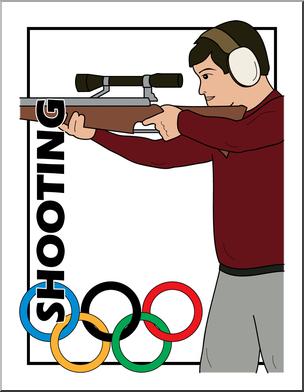 304x392 Clip Art Summer Olympics Event Illustrations Shooting Color I