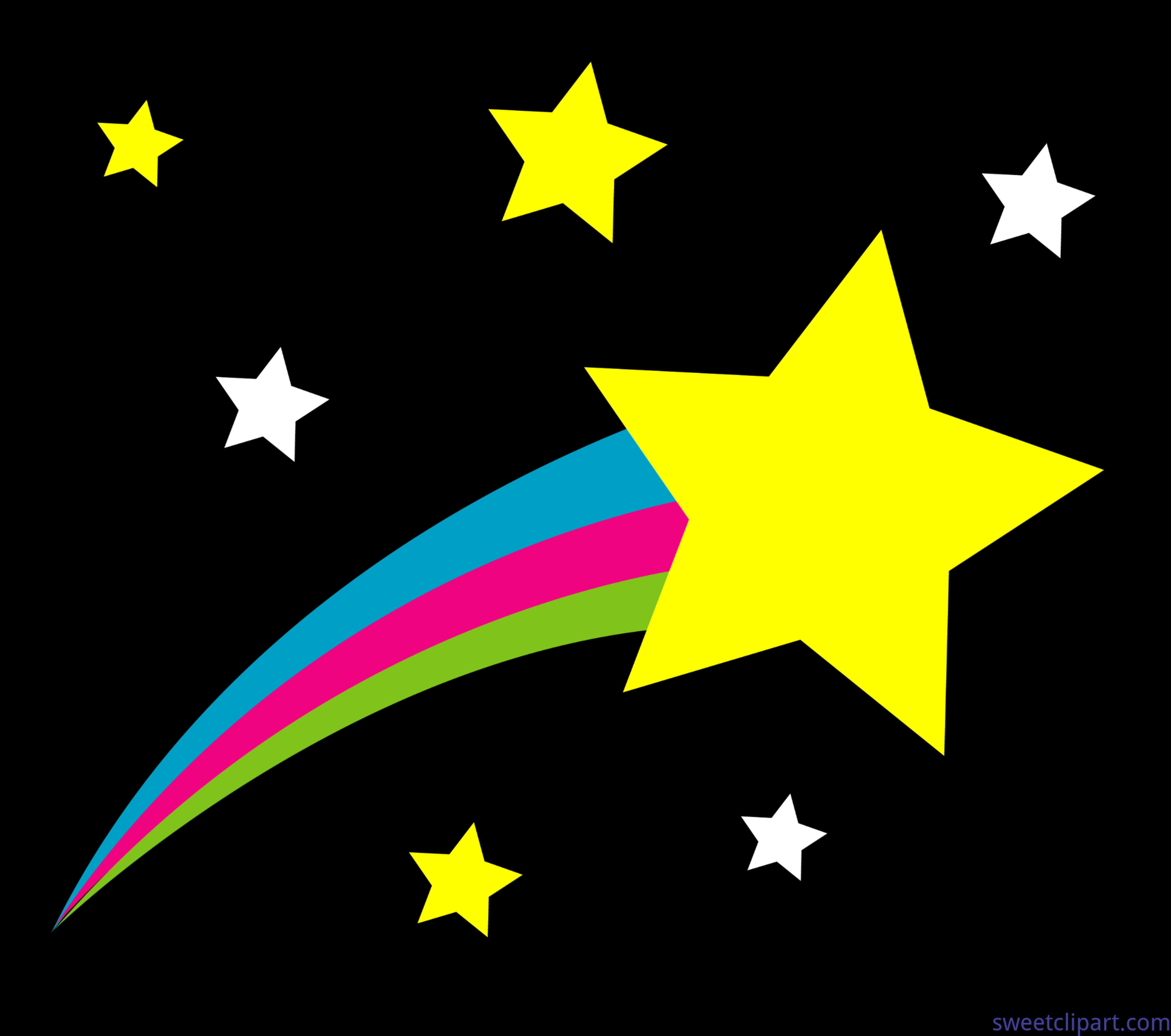 5752x5089 Outer Space Shooting Star Black Background Clip Art