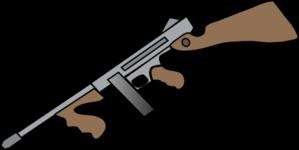 299x150 Thompson Machine Gun Clip Art