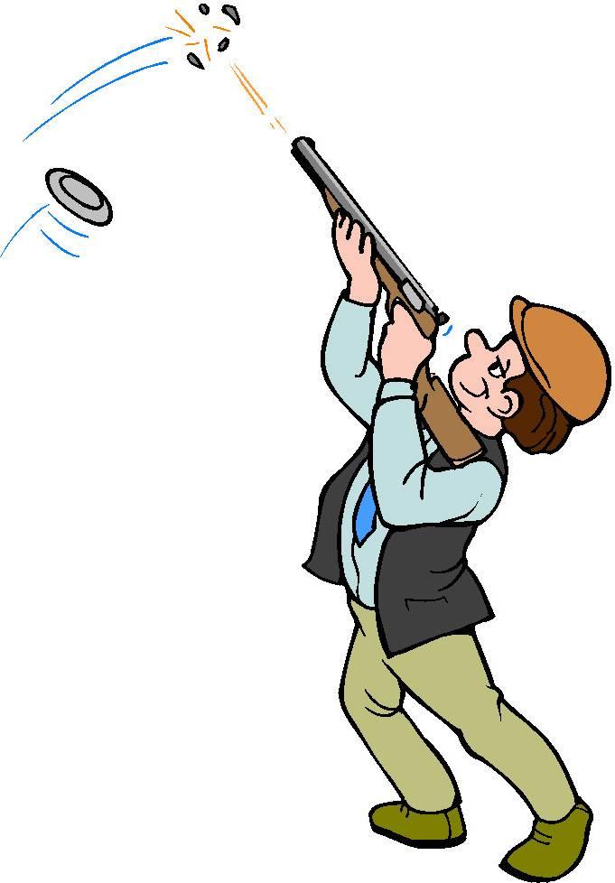 681x978 Trap Shooting Clipart