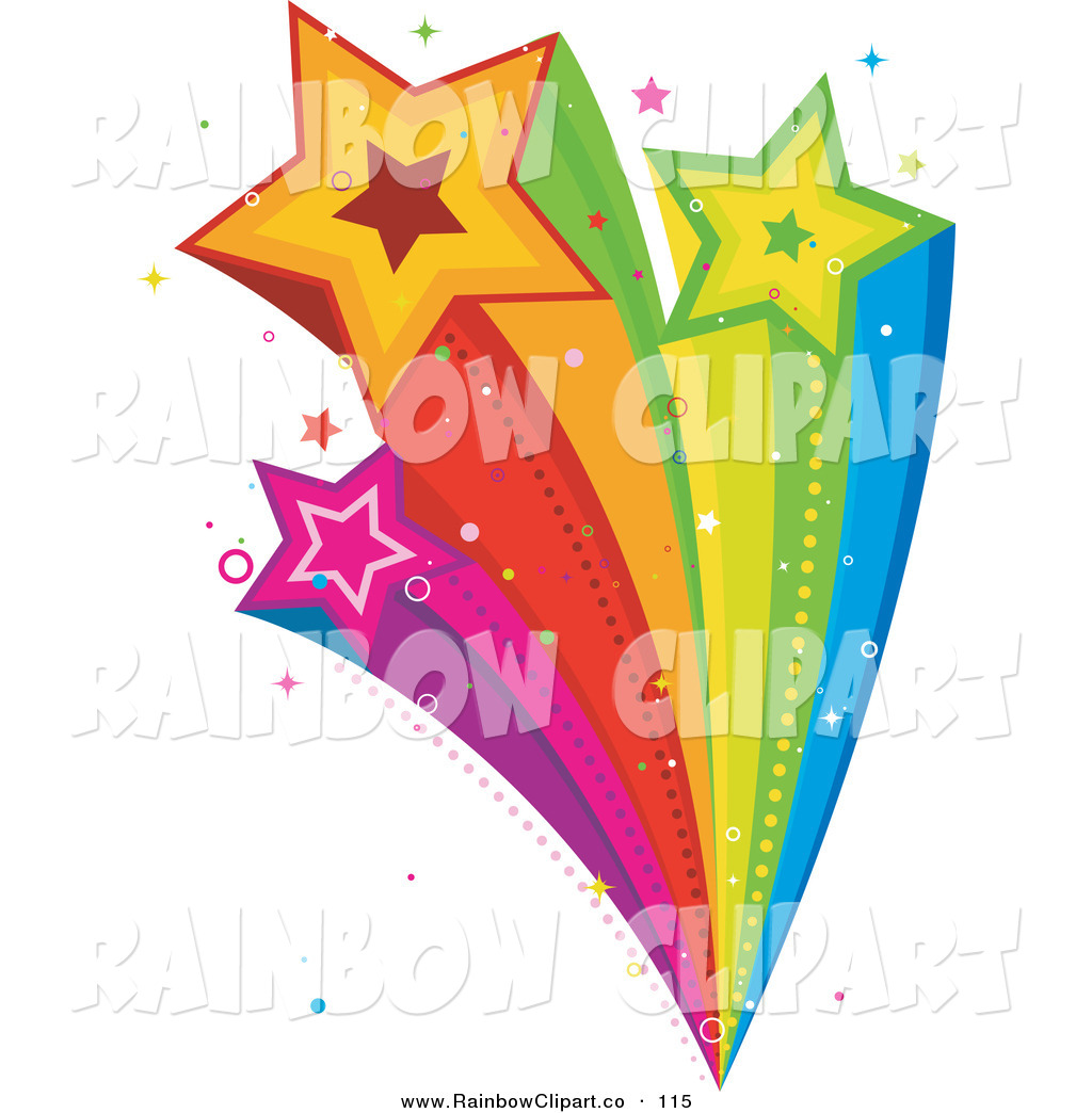 1024x1044 Vector Clip Art Of A Rainbow Shooting Star Burst With Glitters By