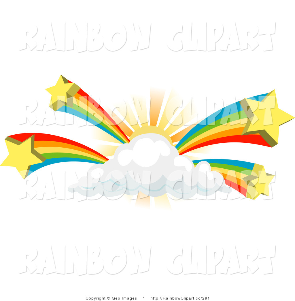 1024x1044 Half Rainbow With Clouds Clipart