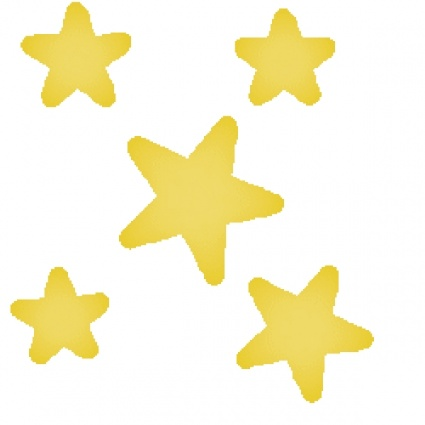 425x425 Shooting Stars Clipart Black And White Free 2