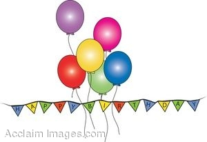 300x206 Solid Birthday Flag Banner Clipart Collection