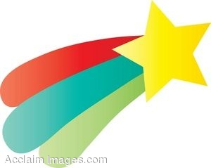 300x239 Clipart Illustration Of A Colorful Shooting Star