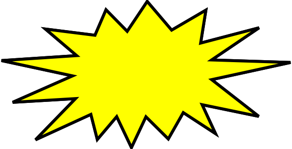 600x307 Clipart Explosion Star Collection