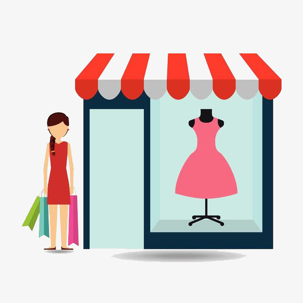 600x600 Shopping Women, Sell Clothes, Shops, Clothes Shop Png Image