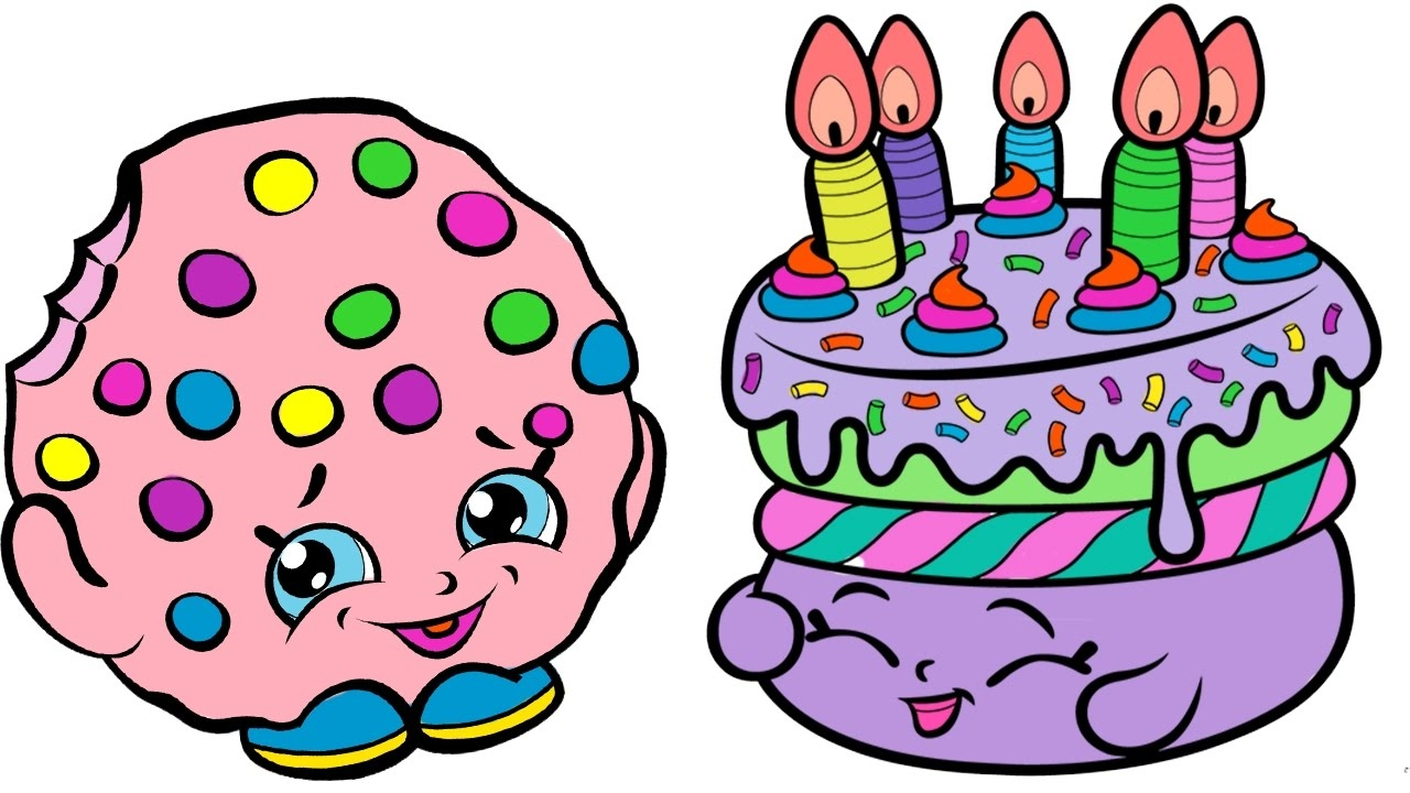 1280x720 Shopkins Birthday Cake Coloring Pages Download 3