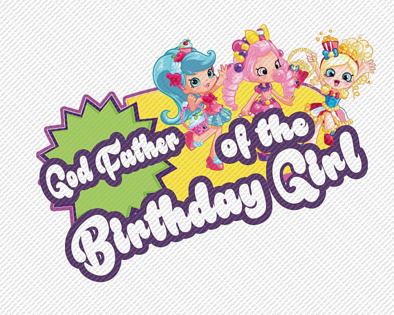 570x456 Shopkins God Father Of The Birthday Girl Iron On Transfer Instant