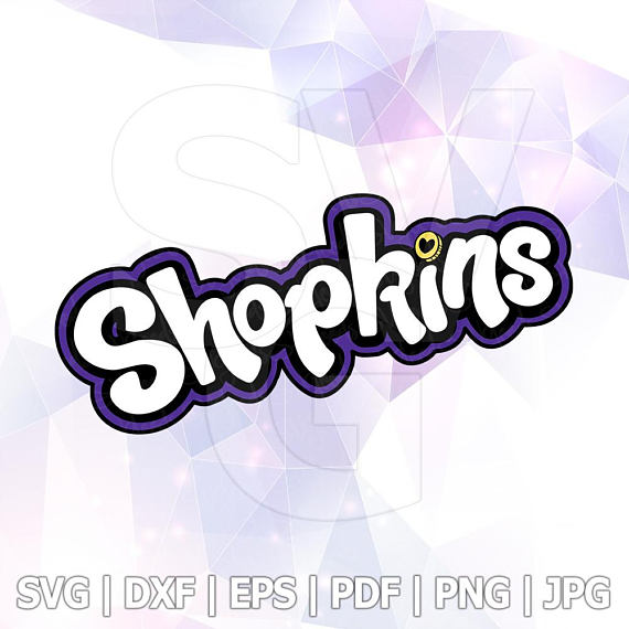 570x570 Shopkins Logo Svg Dxf Eps Png Layered Cut Files Cricut Designs