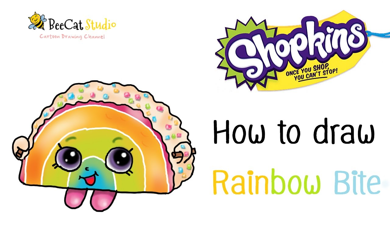 1280x800 How To Draw Shopkins Season 1 Rainbow Bite