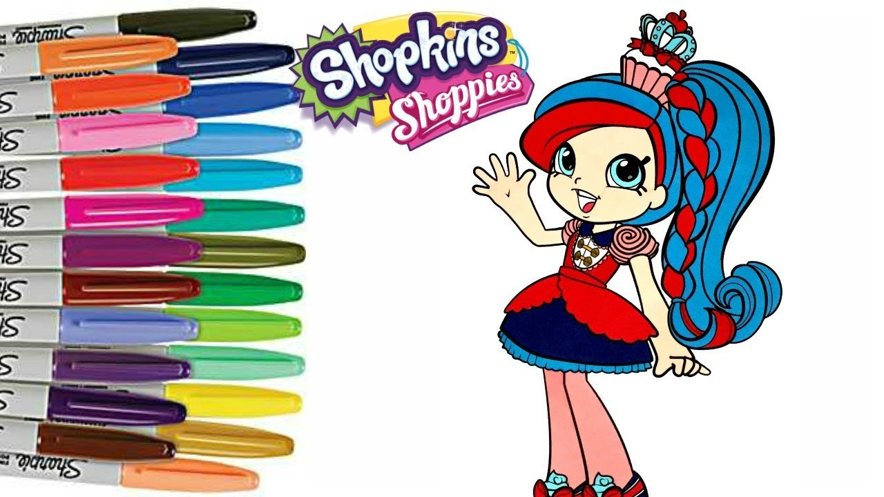 1280x720 Shopkins Shoppie Coloring Book Page Season 8 World Vaction